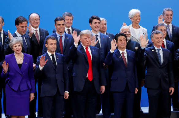 Leaders pose for a family photo during the G20 summit in Buenos Aires, Argentina on November 30, 2018. (Kevin Lamarque/Reuters)